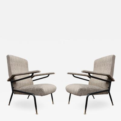 A pair of Italian armchairs Italy 70