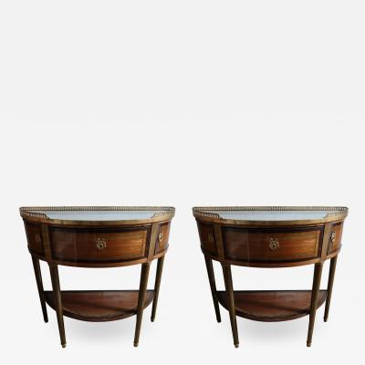 A pair of Louis XVI period consoles France XVIIIth century