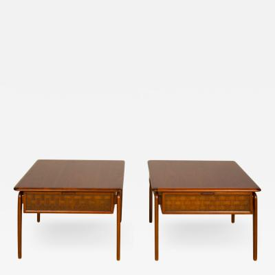 A pair of Mid Century Modern side tables designed by Lane Acclaim series