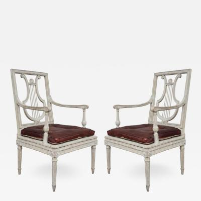 A pair of lacquered chairs Italy XIXth century