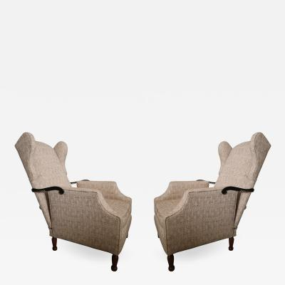 A pair of reclining armchairs Italy 70