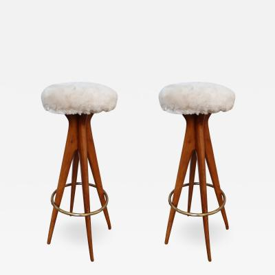 A pair of stools Italy 50