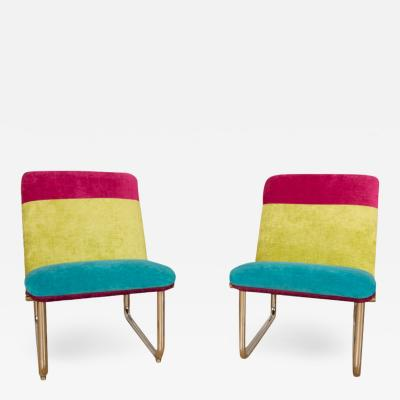 A pair of tubular Chrome Lounge Chairs circa 1970