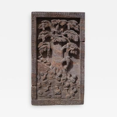 A red stone relief panel from Rajast n India XVIIth century