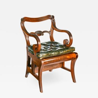 A set of Regency mahogany metamorphic library steps