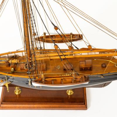 A shipyard model of a gaff rigged Newhaven Smack