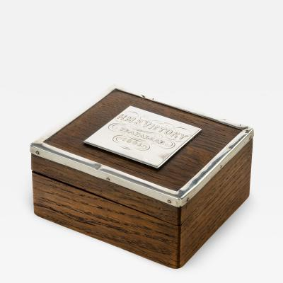A silver mounted commemorative box made from Victory oak 1888