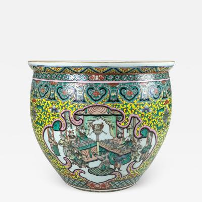A spectacular 19th Century Chinese porcelain fish bowl