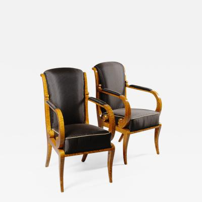 A superb pair of Biedermeier armchairs