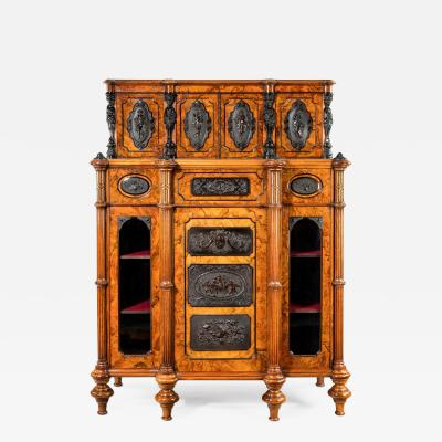 A superb quality burr walnut antique cabinet