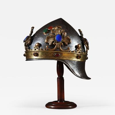 A theatrical prop helmet