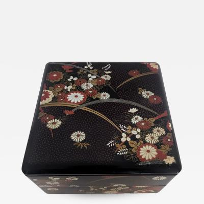 A vintage Japanese Artesanal Lacquer ware stack Box