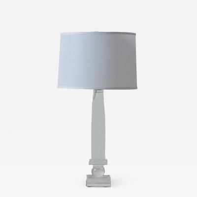 A vintage modern lucite table lamp French C 1980