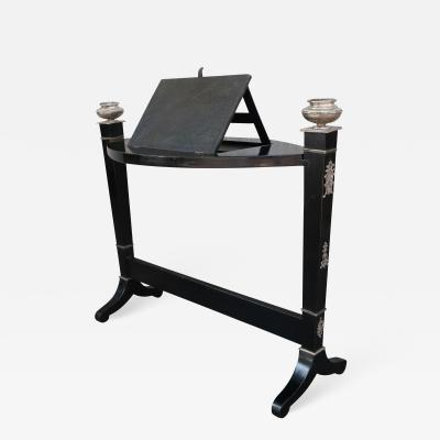 A wooden and silver easel Italy XIXth century