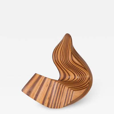 ABSTRACT WOOD WALL MOUNTED SCULPTURE