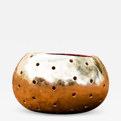 ADN Studio Ana Hernandez Xhigagueta Yachii Gourd with 24 Karat Gold Leaf