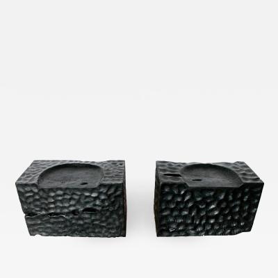 APIR RECTANGULAR BLACK STOOLS