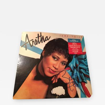 ARETHA FRANKLIN JUMP TO IT AUTOGRAPHED ALBUM COVER