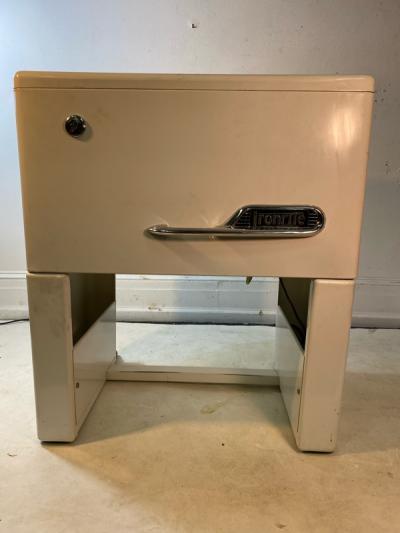 ART DECO IRONITE MACHINE AND CHAIR