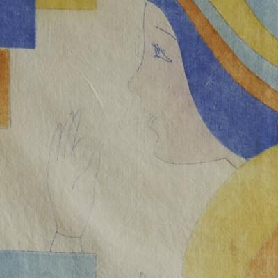 ART DECO STUDY ON FABRIC
