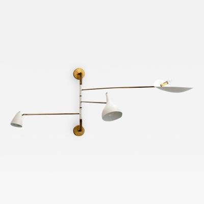 ARTICULATING ITALIAN THREE ARM SCONCE