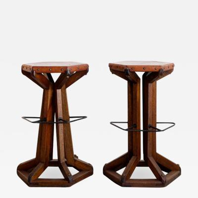 ARTS AND CRAFT BAR STOOLS