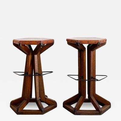 ARTS AND CRAFT BARSTOOLS