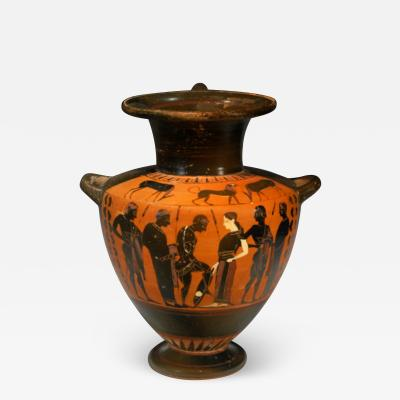 ATTIC BLACK FIGURE HYDRIA BY THE READY PAINTER