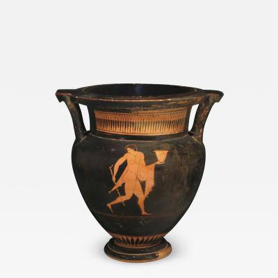 ATTIC RED FIGURE COLUMN KRATER BY MYSON