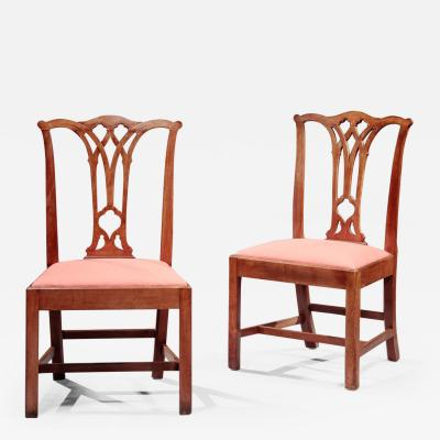 Aaron Chapin Pair of Chippendale Side Chairs