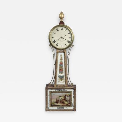 Aaron Willard FEDERAL BANJO CLOCK With Works by Aaron Willard