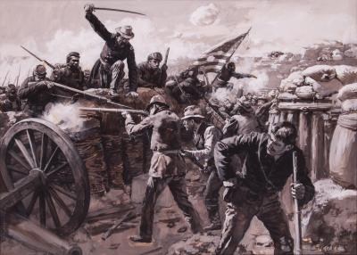Abbott Fuller Graves Colonel Bates Leads the 30th Colored Infantry at the Battle of the Crater