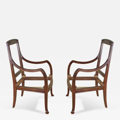 Abel Landry Abel Landry Pair of Art Nouveau Armchairs