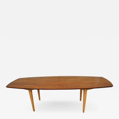 Abel Sorenson Walnut and Birch Modern Coffee table by Abel Sorenson for Knoll