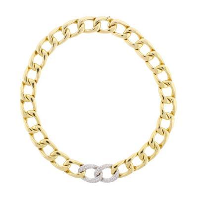 Abel Zimmerman Abel Zimmerman Diamond Open Link Necklace