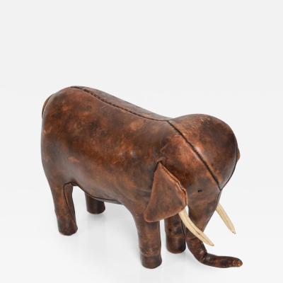 Abercrombie Leather Elephant Mid Century Modern