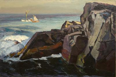 Abraham Jacob Bogdanove Fishing Boats off Squeaker Cove