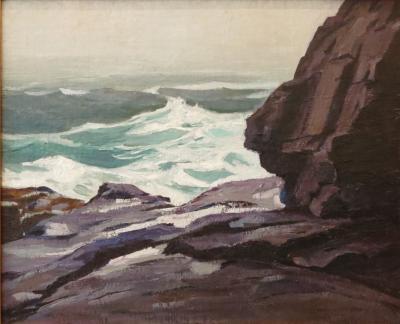 Abraham Jacob Bogdanove Seascape Monhegan