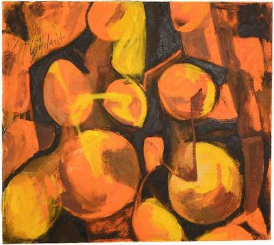 Abstract Oil in Canvas Pregnancy Signed