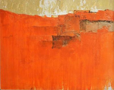 Abstract Painting of Devils Canyon by W L Scruggs