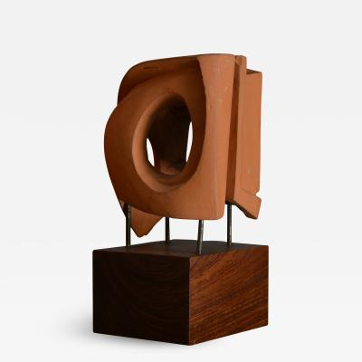 Abstract Sculpture In Terracotta Italy 1968