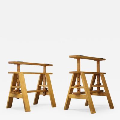 Achille Castiglioni Pair of MidCentury easels for Leonardo Table by Achille Castiglioni for Zanotta