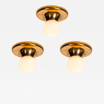Achille Castiglioni Set of 3 1960s Achille Castiglioni LIGHT BALL Wall or Ceiling Lamps for Flos