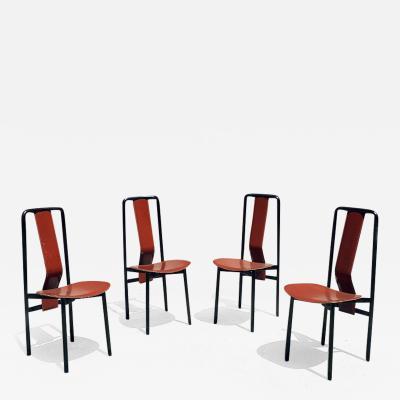 Achille Castiglioni Set of four Irma chairs by Achille Castiglioni for Zanotta 1979