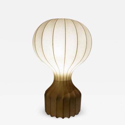 Achille Pier Giacomo Castiglioni 1960s Round Italian Spun Fiberglass Table Lamp by Castiglioni