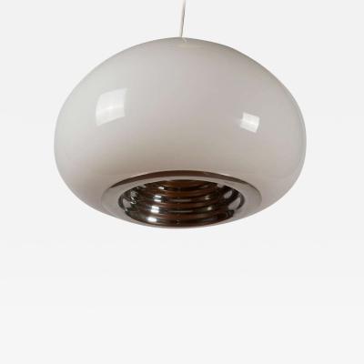Achille Pier Giacomo Castiglioni Black White Pendant Lamp by Castiglioni for Flos