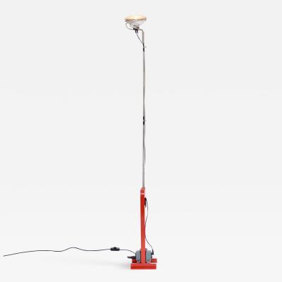 Achille Pier Giacomo Castiglioni Red Toio Floor Lamp by Achille and Pier Giacomo Castiglioni for Flos 1962
