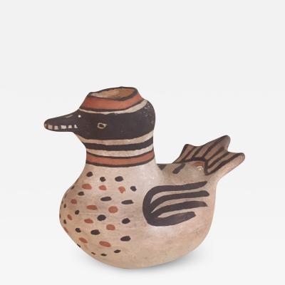 Acoma Laguna pottery duck