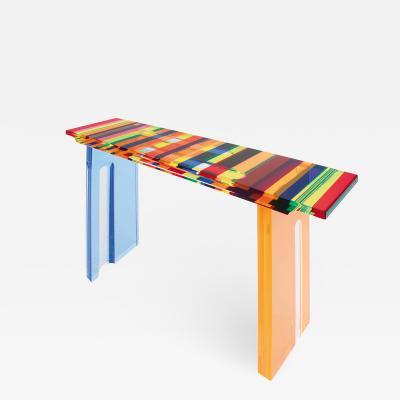 Acrylic Console Tabble Multicolore