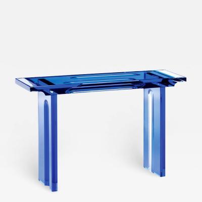 Acrylic Console Table Deep Blue